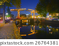 Amsterdam city view with canals and bridges 26764381