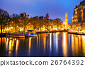 Amsterdam city view with Amstel river 26764392