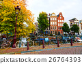 Amsterdam city view with canals 26764393