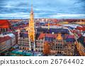 Aerial view of Marienplatz in Munich 26764402