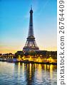 paris, sunrise, city 26764409