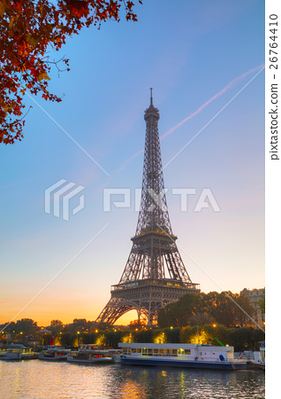 Cityscape with the Eiffel tower 26764410