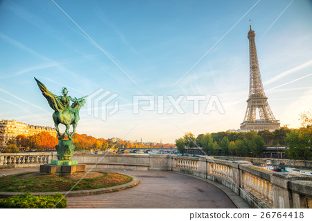 Cityscape with the Eiffel tower 26764418