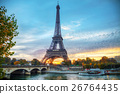 Cityscape with the Eiffel tower in Paris, France 26764435