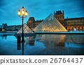 The Louvre Pyramid in Paris, France 26764437