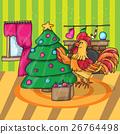 cock, christmas, decoration 26764498