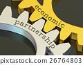 Economic Partnership concept on the gearwheels 26764803