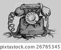 retro rotary dial telephone 26765345