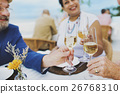 Mature Friends Fine Dining Outdoors Concept 26768310