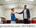 Coach Team Athlete Basketball Bounce Sport Concept 26768661