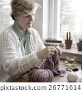 Woman Senior Adult Knitting Concept 26771614