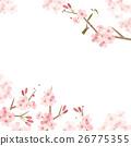 樱花和茄子的例证 26775355