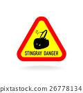 Stingray warning symbol. 26778134