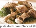松茸蘑菇 秋之美食 蘑菇 26779438