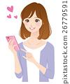 女性 邮件 操作 26779591
