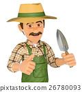 3D Gardener with a small spade 26780093