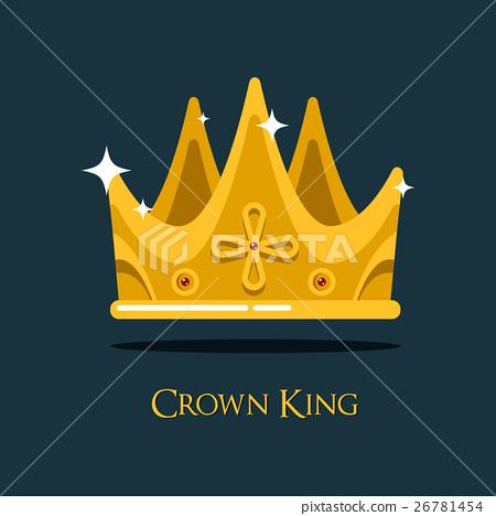 Golden king crown or retro monarch headdress. 26781454