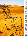 table and seat in desert  sahara morocco    26785097