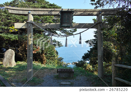시마네 : 미호 유키 碕 바다 之 앞에 치노 앞에 遥拝 소 26785220