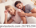 Cute married couple sleeping together 26785294