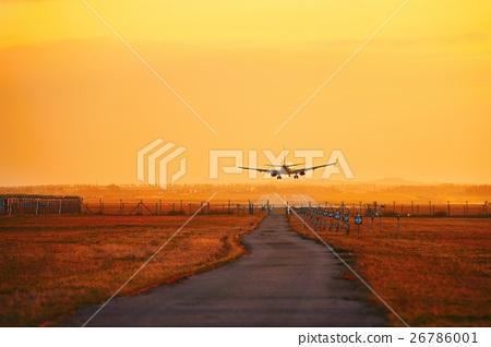 Landing at the sunset 26786001