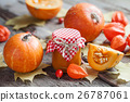 Pumpkin jam, puree or sauce and pumpkins  26787061