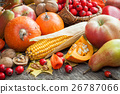 Autum fruit and vegetables. 26787066