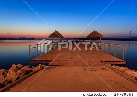 sunet over lake 26789061