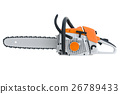 Chainsaw gasoline metal, side view 26789433