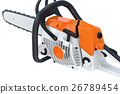 Chainsaw gasoline industry machine 26789454