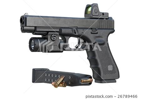 Gun weapon black military pistol 26789466