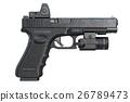 Gun weapon military, side view 26789473