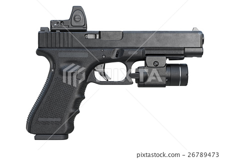 Gun weapon military, side view 26789473