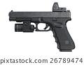 Gun weapon pistol, side view 26789474