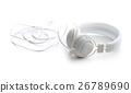 White headphones. 26789690