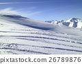 Winter fresh snow landscape in ski mountain resort 26789876
