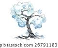 winter tree on white 26791183