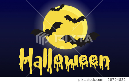 Halloween Trick Treat Spooky Creepy Pumpkin Concept 26794822