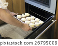 Hands Holding Dough Tray Scone Bakery Concept 26795009