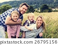 Family Generations Parenting Togetherness Field Nature Concept 26795156