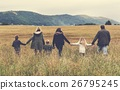 Family Walking Field Nature Togetherness Concept 26795245