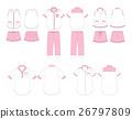 Set of women's homewear and sleepwear vector  26797809