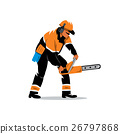 chainsaw, saw, woodcutter 26797868
