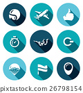 Vector Set of Skydiving Icons.  26798154
