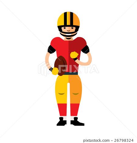 Vector american football player.  26798324