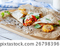 Mexican Quesadilla wrap with vegetables 26798396