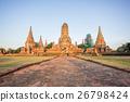 Ancient Ruins of Wat Chai Watthanaram in Ayutthaya 26798424