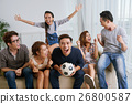 Excited soccer fans 26800587