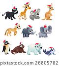 Funny Christmas animals 26805782