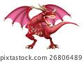 dragon, monster, vector 26806489